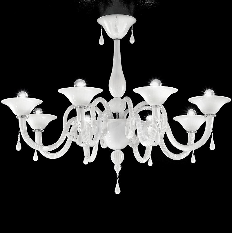 Yrandol murano 102cm bellezza ekskluzywne yrandole for Lampadario contemporaneo
